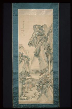 Hanging scroll painting: Landscape