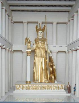Small-scale model of the statue of Athena Parthenos