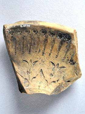 Fragment of a mould used to make Arretine ware bowls
