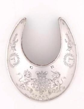 Gorget, worn by Chief Joseph Brant, Haudenosaunee, Great Lakes region