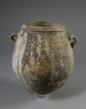 Biconical jar with two small opposing loop handles