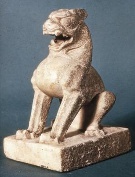 Figure of guardian lion