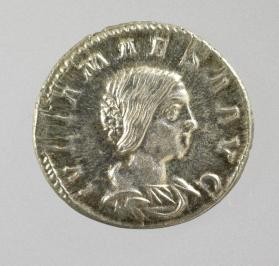 Denarius of Julia Maesa, grandmother of Elagabalus