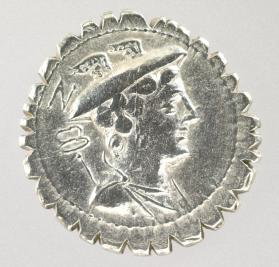 Serrate denarius with bust of Mercury