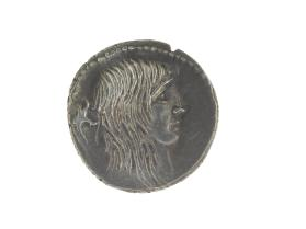 Denarius with head of Gallia