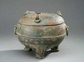 Ding food vessel with lid