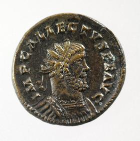 Antoninianus with bust of Allectus