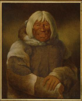 """An Esquimaux,"" (Portrait of Ogemawwah Chack, ""The Spirit Chief""), Inuit"