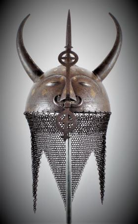 "Kulah khud helmet with ""Devil's Head"""