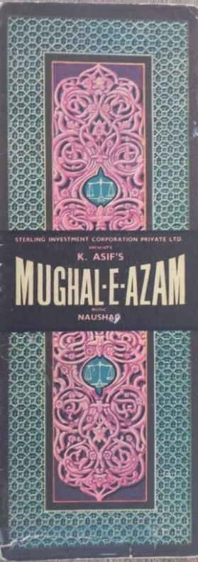 "Cinema booklet for ""Mughal-e-azam (The Mughal Emperor)"""