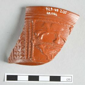 Rim fragment of a Samian ware bowl
