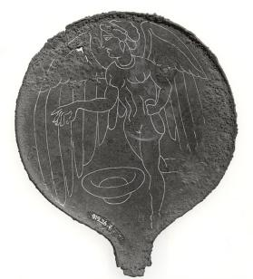 Mirror with winged Lasa