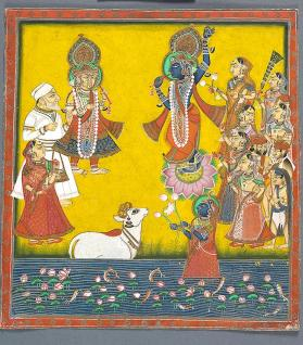 Painting of Krishna Fluting