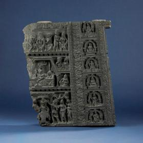 Relief with scenes from the Life of Buddha