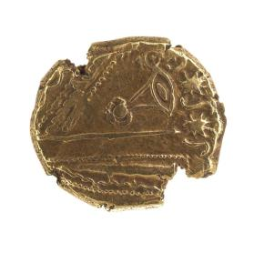Stater coin of the Treveri with eye-like pattern