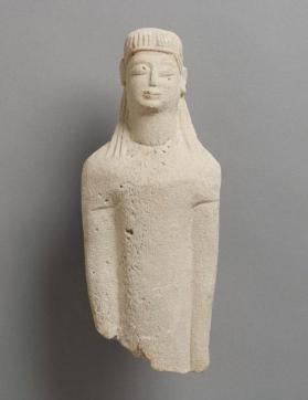 Fragmentary figure of draped male votary