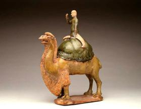 Burial figure of a foreign merchant on a camel