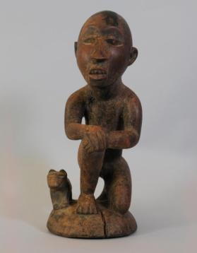 Male figure with dog