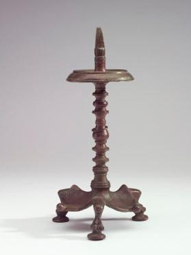 Pricket stand for a lamp