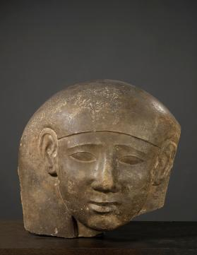 Head of anthropoid sarcophagus