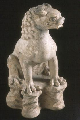 Burial figure of a lion