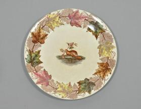 "Dinner plate in ""Maple"" pattern"
