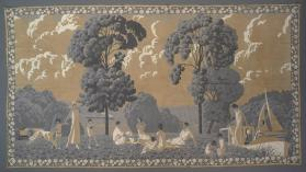 Wall hanging entitled La Vie au Grand Air