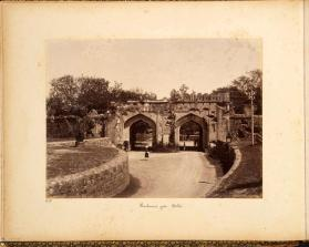 Kashmiri Gate in Delhi, from photograph album of Views of India