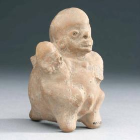 Woman and child whistle