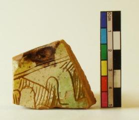 Hatched slip-incised ware bowl fragment (rim sherd)