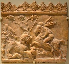 "Architectural ""Campana"" relief with lion hunt"