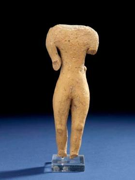 Fragmentary figure of a standing male votary