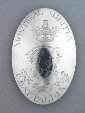 1st Battalion, Montreal Militia badge