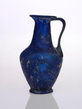Blue jug with biconical high-bellied body