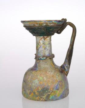 Small glass jug with trailed decoration
