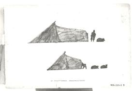 Book plate, Innuit Topeck (Esquimaux Tents)