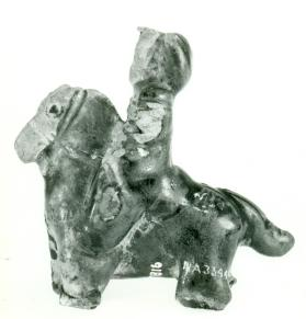 Figure of a mounted male (fragment)