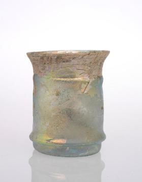 Transparent light-green beaker
