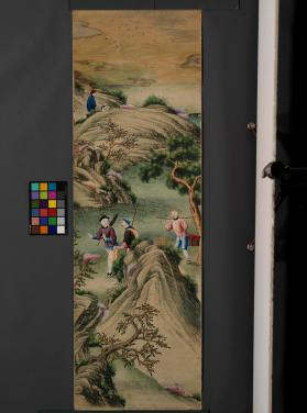 Wallpaper depicting a Chinese landscape