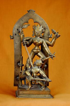 Durga slaying the Demon Mahisa (Durgamahisasuramardini)