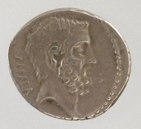 Denarius with head of L. Junis Brutus the elder and C. Servilius Ahala