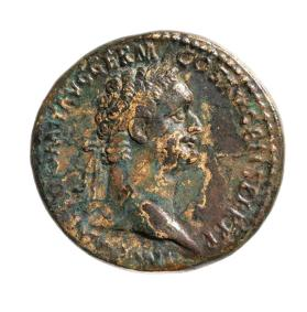 Sestertius with bust of Domitian