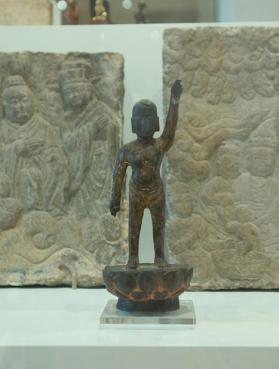Figure of Infant Buddha making vow