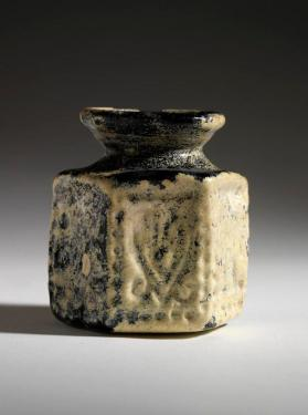 Hexagonal jar with menorah