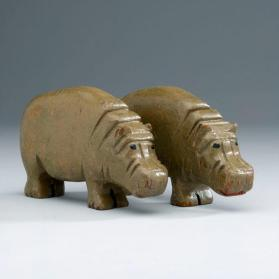 Noah's ark figures: pair of hippopotamuses