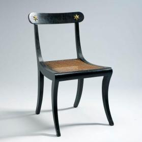Side chair in Regency-Sheraton style