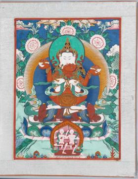 Thangka painting of Cakrasamvara and Vajravarahi