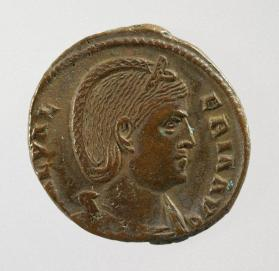 Follis coin of Galeria Valeria, wife of Galerius Maximianus