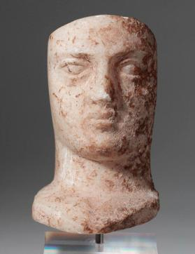 Bust of a woman, part of an acrolith (a mixed media composite sculpture)