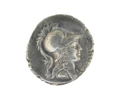 Denarius with bust of Minerva